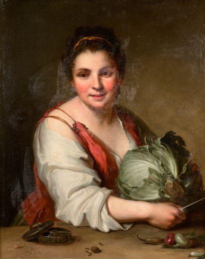 Jean-Baptiste SANTERRE (1651-1717)  La coupeuse...