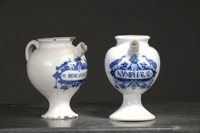 HOLLANDE, XVIIIe siècle  Deux chevrettes...