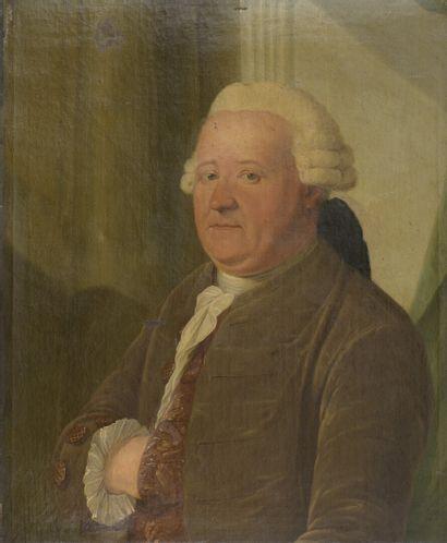 École FRANÇAISE vers 1770  Portrait d'homme...