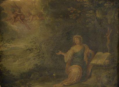 Attribué à Pieter Van AVONT (1600-1632)  Madeleine...