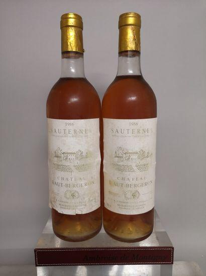 2 bouteilles Château HAUT BERGERON - Sauternes...