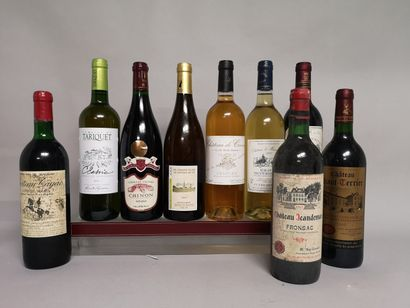 29 bouteilles VINS DIVERS France Blancs et...