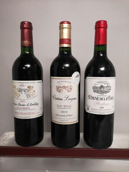20 bouteilles BORDEAUX DIVERS comprenant:...