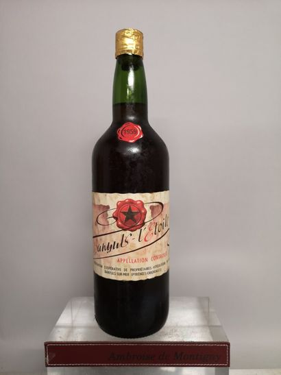 1 bouteille BANYULS L'ETOILE 1959 (capsule...