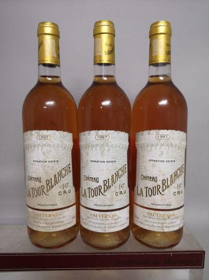 3 bouteilles Château La TOUR BLANCHE - 1er...