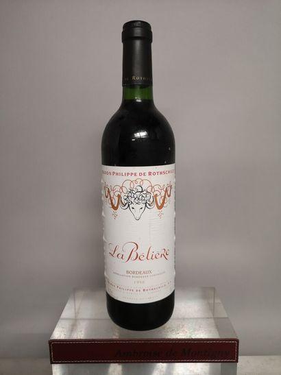 1 bouteille La BELIERE (Baron Philippe de...
