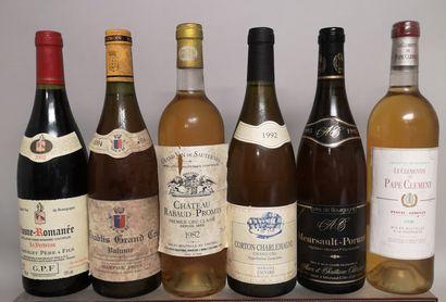 6 bouteilles VINS DIVERS France comprenant...