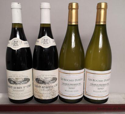 4 bouteilles VINS de BOURGOGNE et CHABLIS...