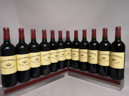 12 bouteilles CLOS DU MARQUIS - Saint Julien...