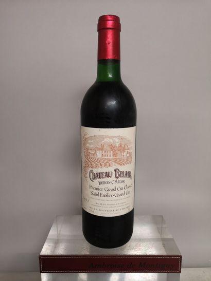 1 bouteille Château BELAIR - Cru Classé de...