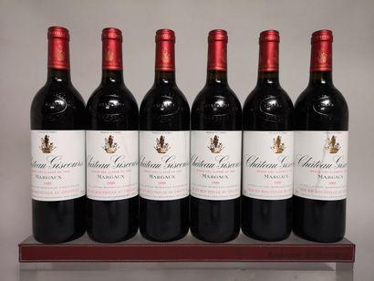 6 bouteilles Château GiSCOURS - 3e Gcc Margaux...