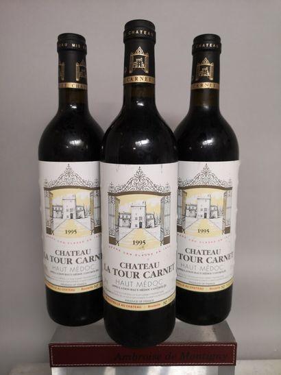 3 bouteilles Château La TOUR CARNET - Haut...