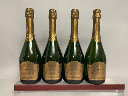 4 bouteilles CHAMPAGNE brut FIGUET et fils...