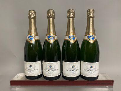 4 bouteilles CHAMPAGNE Brut Thibault de VILLEJAMES...