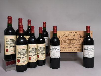 12 bouteilles CRUS BOURGEOIS de Médoc comprenant...