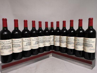 12 bouteilles Château HAUT MARBUZET - Saint...