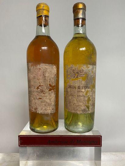 2 bouteilles VINS LIQUOREUX DIVERS comprenant...