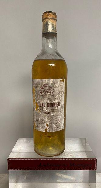1 bouteille Château ROUMIEU - Sauternes Barsac...
