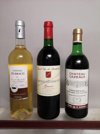 21 bouteilles BORDEAUX DIVERS comprenant...