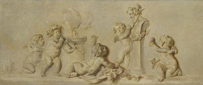 Ecole FRANCAISE de style XVIIIe, dans le goût de Piat-Joseph SAUVAGE.
