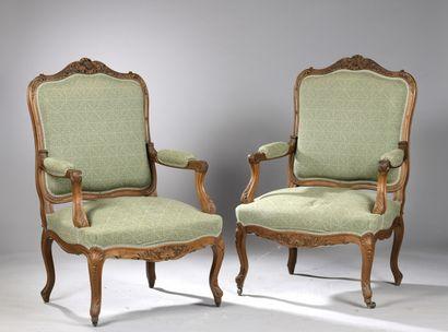 PARTIE DE SALON de style Louis XV, XIXe s