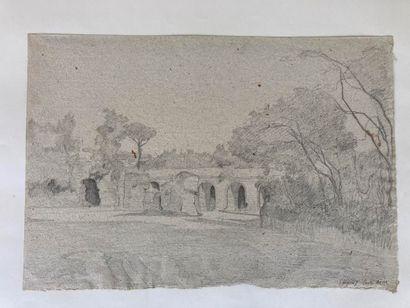 École Française du XIXe siècle École FRANÇAISE du XIXe siècle  Vues d'Italie et des...