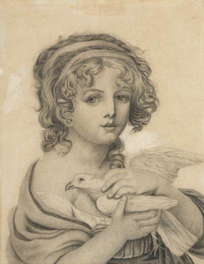 École Française du XIXe siècle École FRANÇAISE du XIXe siècle  La jeune fille à la...