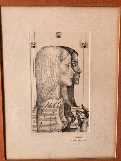 Lot de gravures Lot de gravures comprenant :  - Jack in the office, d'après Sir Edwin...