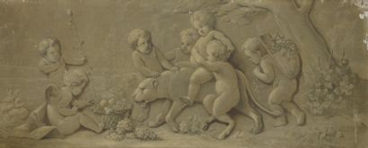 Ecole FRANCAISE de style XVIIIe, dans le goût de Piat-Joseph SAUVAGE. Ecole FRANCAISE...