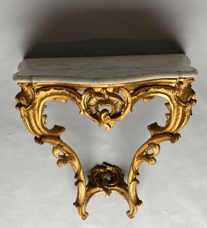 CONSOLE en bois doré XVIIIe siècle