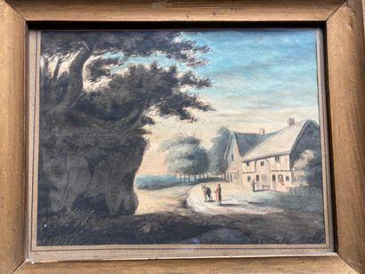 École Française du XIXe siècle École FRANÇAISE du XIXe siècle  Projet de décor pour...