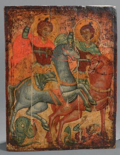 Saint Georges et saint Dimitri Grèce du Nord,...