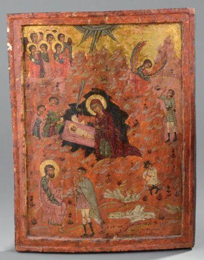 Nativité de Jésus Christ Grèce du Nord, XVIIIe...