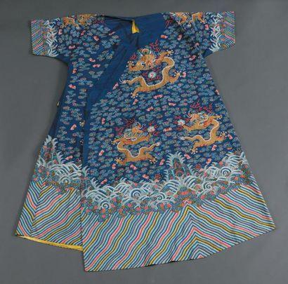 Robe en soie tissée (kesi), jifu Chine, dynastie...