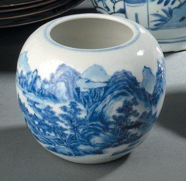 Pot en porcelaine bleu blanc Chine, dynastie...