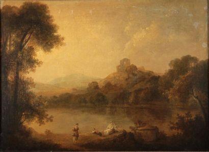 École ANGLAISE vers 1780, entourage de Richard WILSON