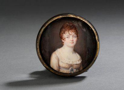 Portrait de femme en buste Miniature sur...