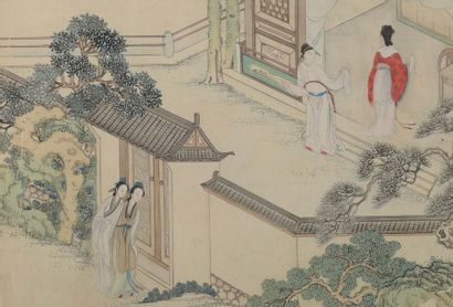 Quatre petites peintures Chine, XIXe et XXe...