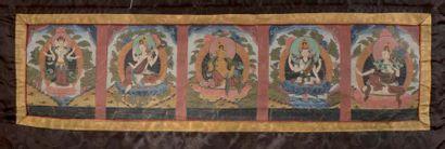 Petit thangka Tibet, XIXe siècle Composé...