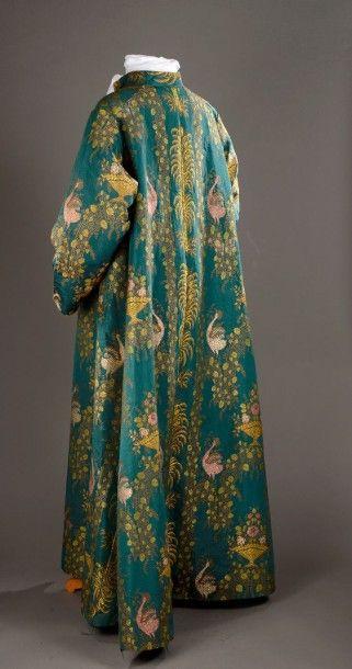 Robe d'intérieur d'homme ou banyan provenant de la garde-robe de Jacques de Vaucanson,...