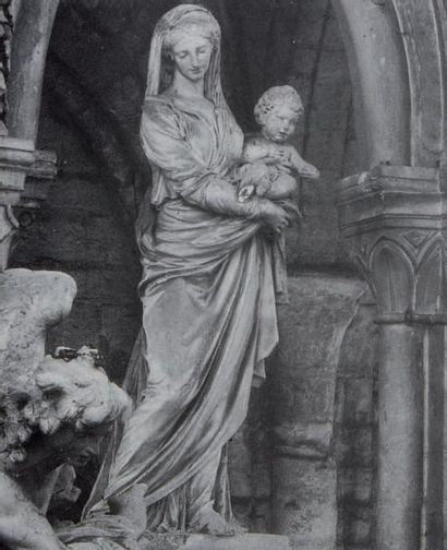 JEAN-GUILLAUME MOITTE (1746-1810) Vierge à l'enfant Esquisse préparatoire pour la...