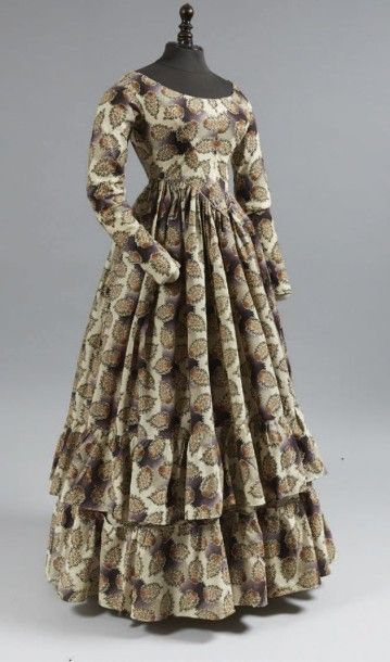 Robe d'après-midi, vers 1845, en sergé de...