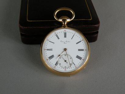 Montre en or par Gustave SANDOZ, horlorger...