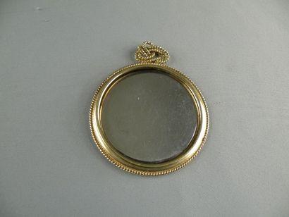 Monture de miroir de sac en alliage d'or...