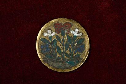 Rare médaillon de forme circulaire en cuivre...