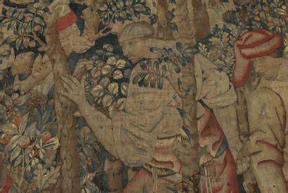 Pays-Bas méridionaux, vers 1460-1470 L'Abbatage dans les bois Tapisserie en laine...