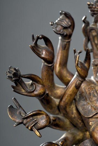 Sculpture d'Avalokitesvara en bronze doré Chine, dynastie Ming, xvie-xviie siècle...