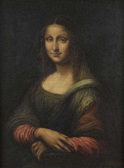 Léonard de Vinci , d'après Copie du Portrait...