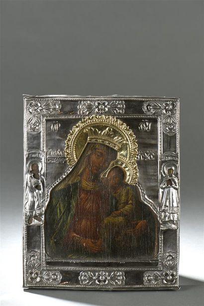 Vierge à l'Enfant Avec sur les bordures les...