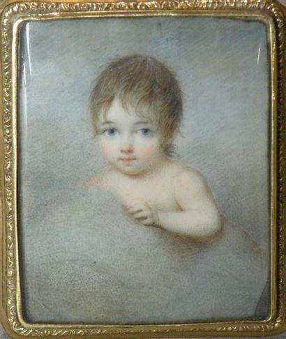 Ecole française vers 1810 Enfant dans les...
